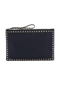 Valentino marine blue leather 'Rockstud' medium clutch