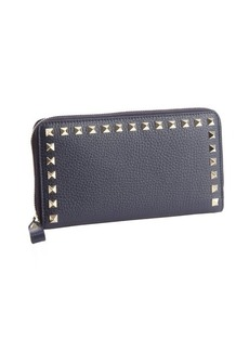 Valentino marine leather studded detail continental wallet