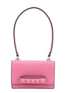 Valentino ninfea pink leather 'Va Va Voom' flap front mini shoulder bag