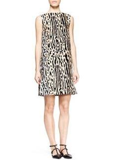 Valentino Ocelot Brocade Shift Dress