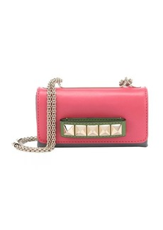 Valentino pink and green leather 'Va Va Voom' convertible shoulder bag