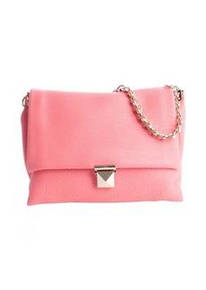 Valentino pink leather fold-over chain shoulder bag