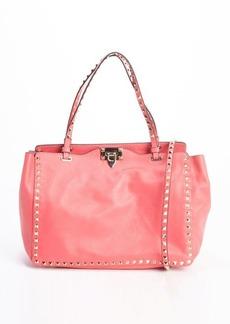 Valentino pink leather studded convertible shoulder bag
