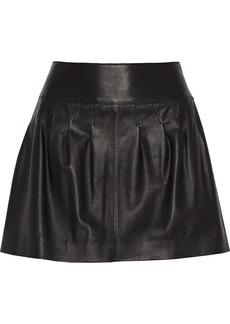 Valentino Pleated leather skirt