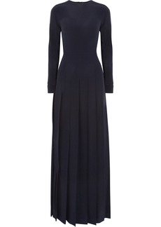 Valentino Pleated silk gown