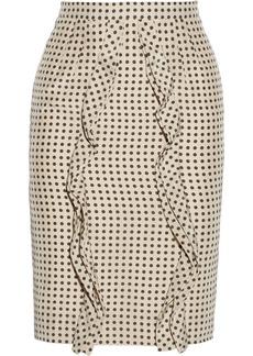 Valentino Polka-dot silk pencil skirt