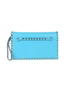 Valentino powder blue leather 'Rockstud' studded clutch