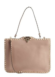 Valentino powder brown leather 'Rockstud' crossbody bag
