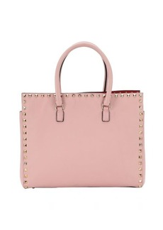 Valentino Pre-Owned: pink leather 'Rockstud' top handle small tote