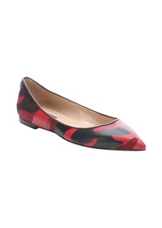 Valentino red camo leather and fabric ballerina flats