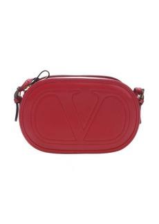Valentino red leather 'Logo Go' crossbody bag