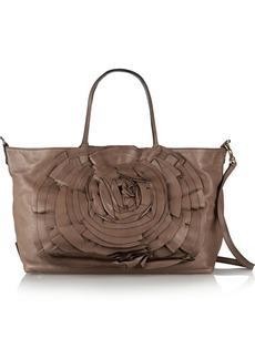 Valentino Rosette-embellished leather shoulder bag