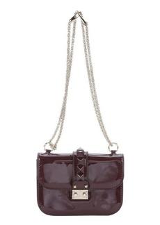Valentino rubin patent leather studded detail shoulder bag