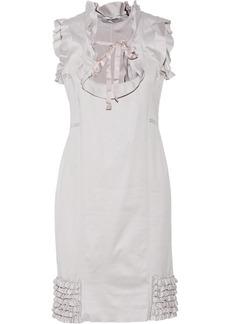 Valentino Ruffled cotton-jersey dress