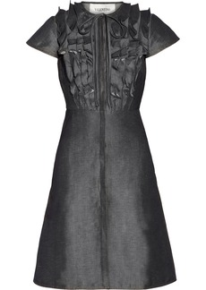Valentino Ruffled denim dress