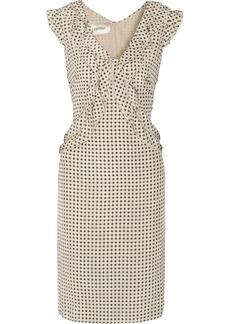 Valentino Ruffled polka dot-print silk-crepe dress