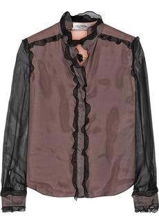 Valentino Ruffled silk-organza blouse