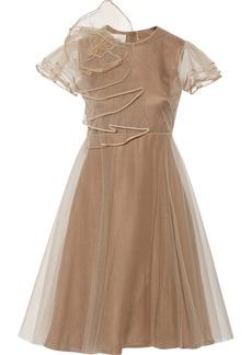 Valentino Ruffled tulle dress