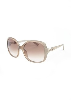 Valentino sand bow detail square sunglasses