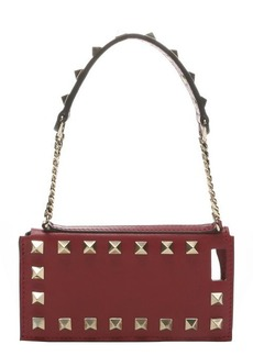 Valentino scarlet leather 'Rockstud' wristlet iPhone 5 case