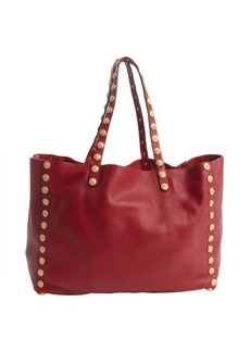 Valentino scarlet leather studded tote bag