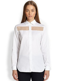 Valentino Sheer-Panel Detail Shirt
