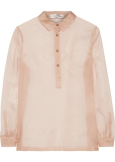 Valentino Silk-chiffon top