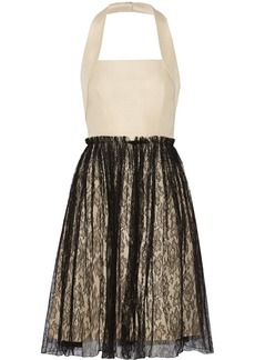 Valentino Silk-crepe and lace dress