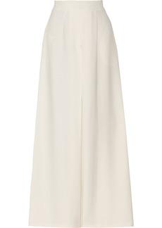 Valentino Silk-crepe high-rise wide-leg pants