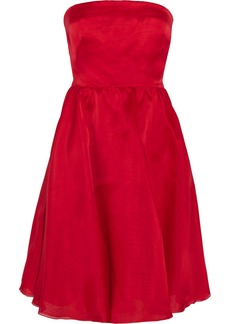 Valentino Silk-organza strapless dress