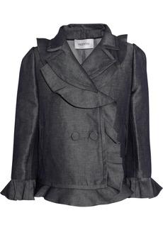 Valentino Slub flax-blend jacket