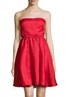 Valentino Strapless Chiffon Cocktail Dress, Red