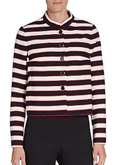 Valentino Striped Button-Down Jacket