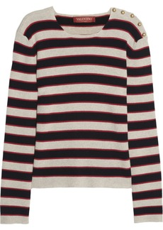 Valentino Striped cashmere sweater