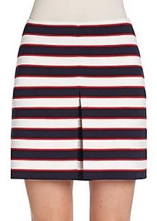 Valentino Striped Knit Skirt