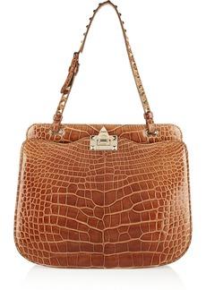 Valentino Studded alligator shoulder bag