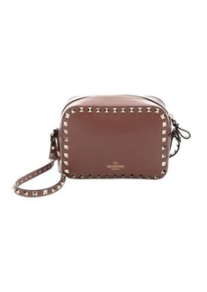 Valentino taupe leather 'Rockstud' crossbody bag
