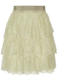 Valentino Tiered lace mini skirt