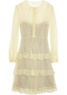 Valentino Tiered silk-chiffon dress