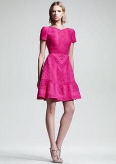 Valentino Voulant-Hem Guipure Dress