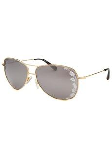 Valentino Women's Aviator Gold-Tone Sunglasses
