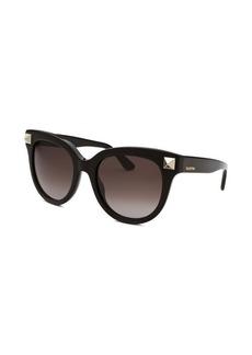 Valentino Women's Black Cat Eye Sunglasses