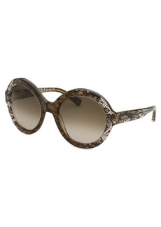 Valentino Women's Brown Translucent Oversized Sunglasses