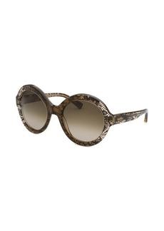 Valentino Women's Brown Translucent Oversized Sunglasses