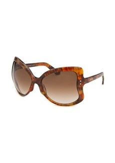 Valentino Women's Butterfly Brown Sunglasses