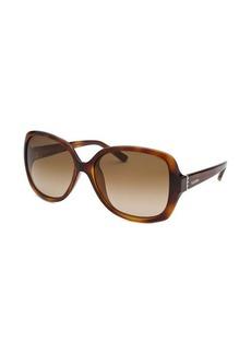 Valentino Women's Butterfly Havana Sunglasses