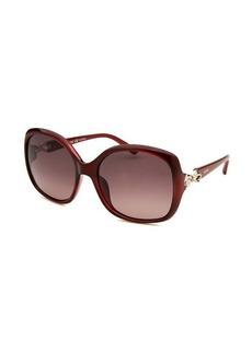 Valentino Women's Butterfly Red Sunglasses