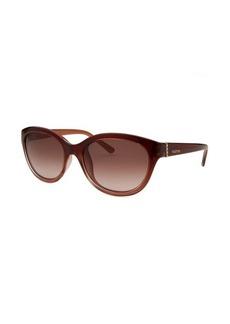 Valentino Women's Cat Eye Brown Gradient Sunglasses