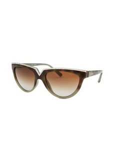 Valentino Women's Cat Eye Dark Havana Gradient Sunglasses