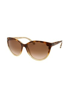 Valentino Women's Cat Eye Havana and Gold Sunglasses